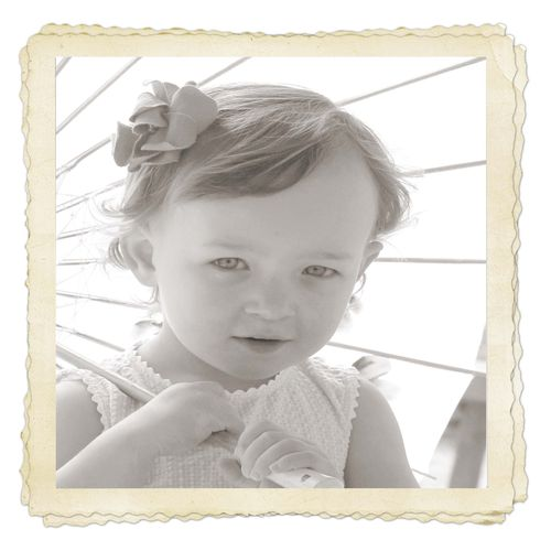 Natalie with frame